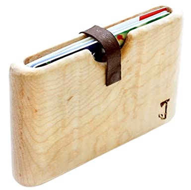 d13a460c80a Amazon.com  Wood Wallet By Slim Timber (Maple)  Clothing