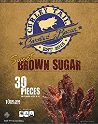 Curley Tail Candied Bacon - Sweet Brown Sugar (30 Pack)