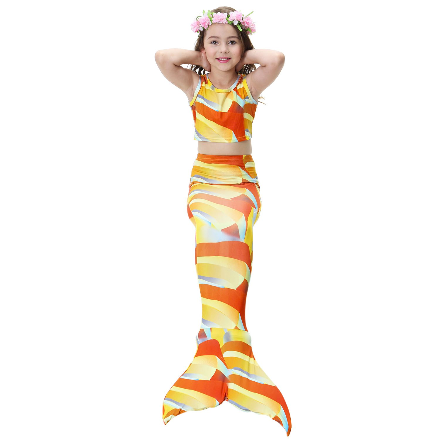 99ec8048b65e9 Online Cheap wholesale sophiashopping 3pcs Girls Tankini Swimsuit Sparkle  Bathing Suit With Mermaid Tail For Swimming Girls Suppliers