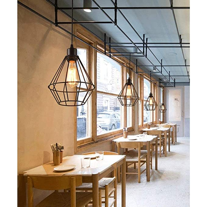 Amazon.com: MMPY Creative Personality Retro Industrial Wind Pendant Lamp Ceiling Lamp Simple Ceiling Lamp Restaurant Bar Pendant Decoration Lamp: Home & ...