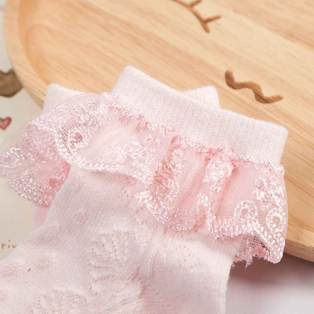 Ben-gi Cute Baby Infantile del Merletto del calzino Ragazze minuscolo Neonato spagnoli a Maglia Calze di Cotone Miscela Caviglia