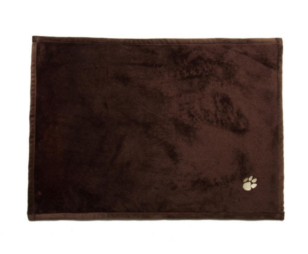 Cat Warmer Mat Pet Dog Blanket Fleece Fabric Soft Cat Dog Blankets(Coffee,M)