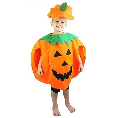 Petitebella Orange Pumpkin Unisex Children Costume 3-7year: Clothing