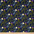 Outlander Flowers Blue Fabric By The Yard