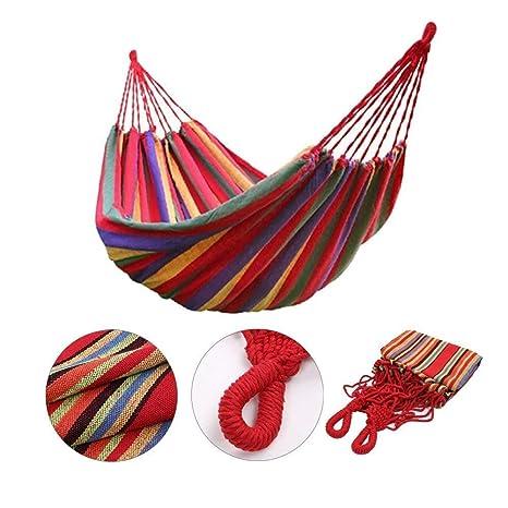 Sleeping Bags Popular Brand Portable Outdoor Garden Hammock Hang Bed Travel Camping Swing Canvas Stripe
