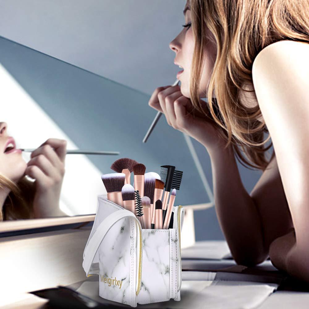 Make-up Pinsel Tasche Schwarz Meigirlxy Reise Kosmetik Halter Stift Fall Speicherorganisator f/ür Frauen und M/ädchen