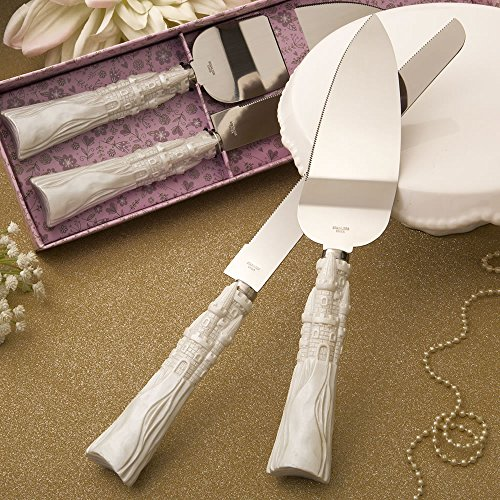 1 SET Fairytale Design / Cinderella Themed Stainless Steel Cake Cutter and Knife (Cinderella Theme Bridal Shower)