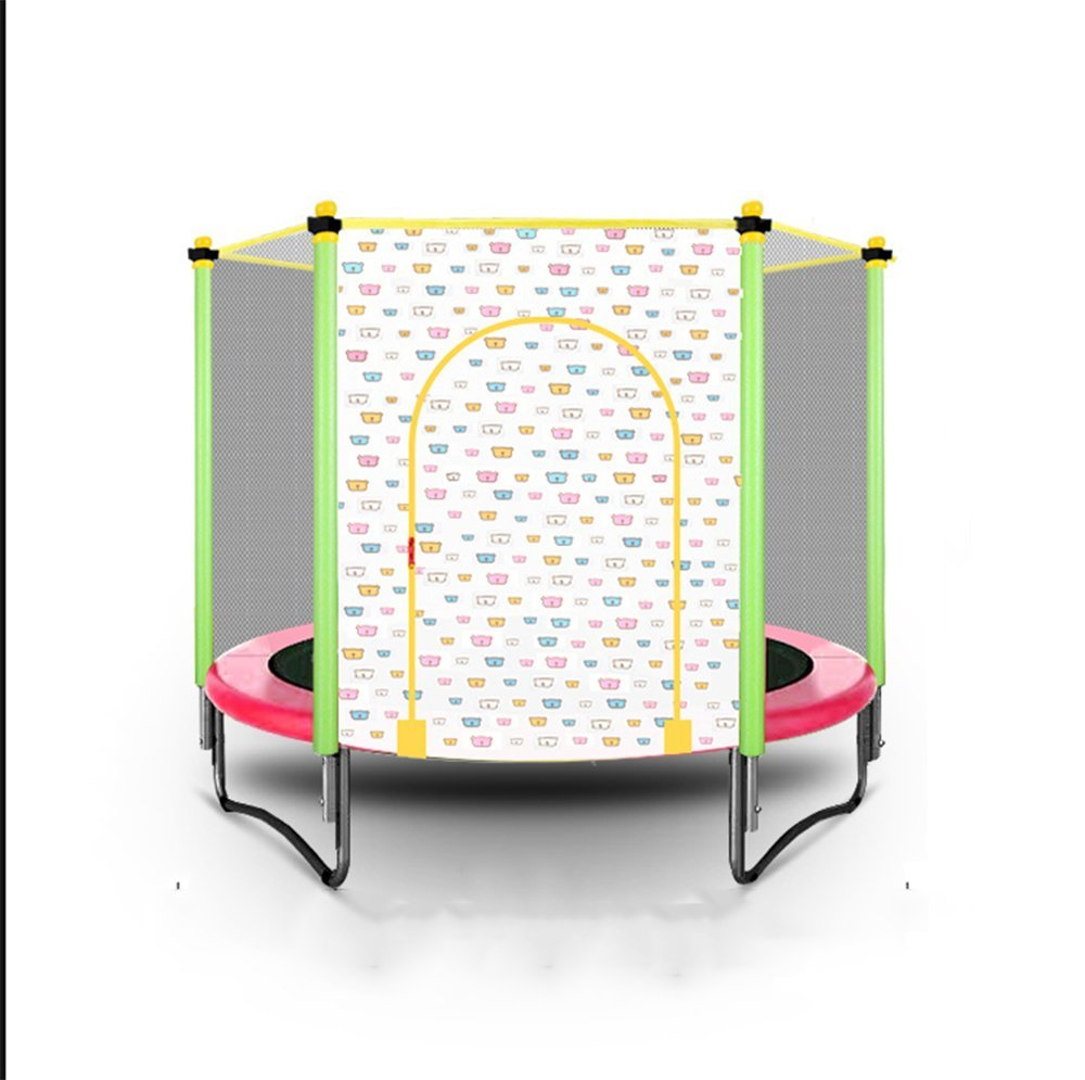 Wly&Home Kinder-Trampolin, Faltbares Indoor-Indoor-Trampolin, Rund Im Freien mit Netzsicherheit und Fitness 150Cm