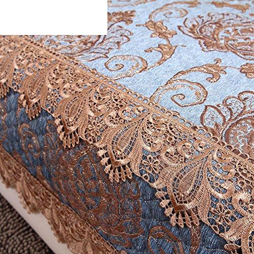 sofa towel/blue,ga, four seasons,anti-skidding ,european style, solid wood sofa towel/towel-A 90x150cm(35x59inch) by HEKNXNLKLASFK (Image #1)
