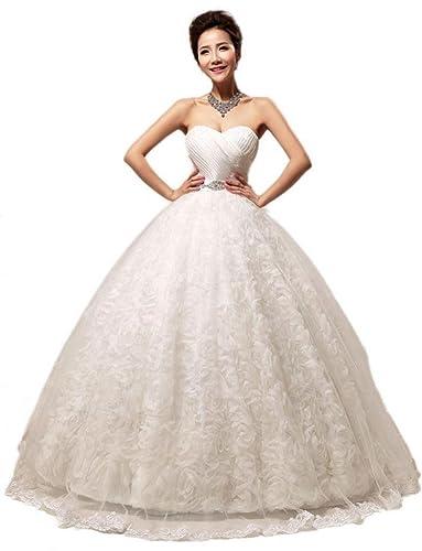 Eyekepper New Embellished Pleated Strapless Gown By Bridal Wedding Dress Custom Size