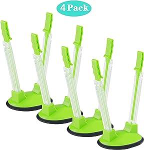 TAO Cicada Baggy Rack-Pack of 4 Hand Free Storage Bags Clip, Plastic bag bracket,No-hands Food Storage Bag Holders