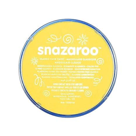 Snazaroo - Pintura facial y corporal, 18 ml, color amarillo brillante