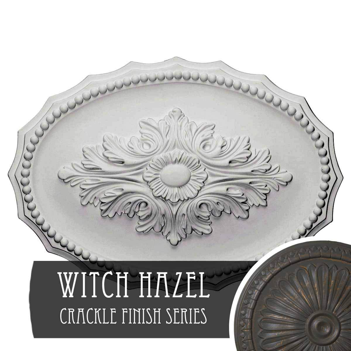 Ekena Millwork CM16OXWHC Oxford Ceiling Medallion, Witch Hazel Crackle