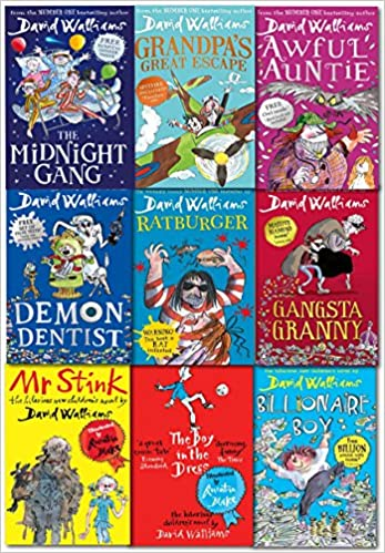 The World of David Walliams 9 Books Collection Set (The Midnight ...