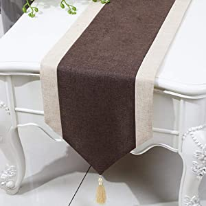 Home bathroom convenience Simple Style, Classical, Retro, Coffee Table Cloth Embroidery Table Flag, Coffee, 33300cm