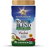 Sunwarrior - Warrior Blend, Raw, Plant Based, Organic Protein, Mocha, 30 servings