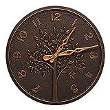 Tree of Life 16-in Indoor Outdoor Wall Clock - 02244