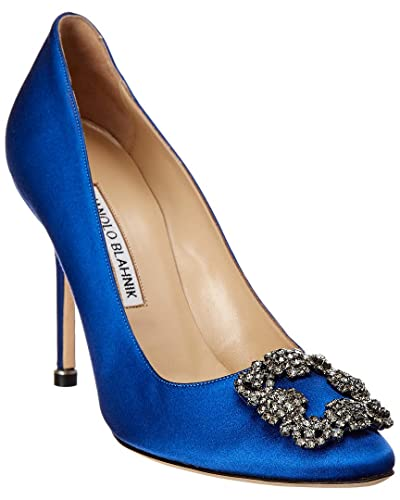 7860586e6a052c Image Unavailable. Image not available for. Color  Manolo Blahnik Hangisi  105 Satin Pump