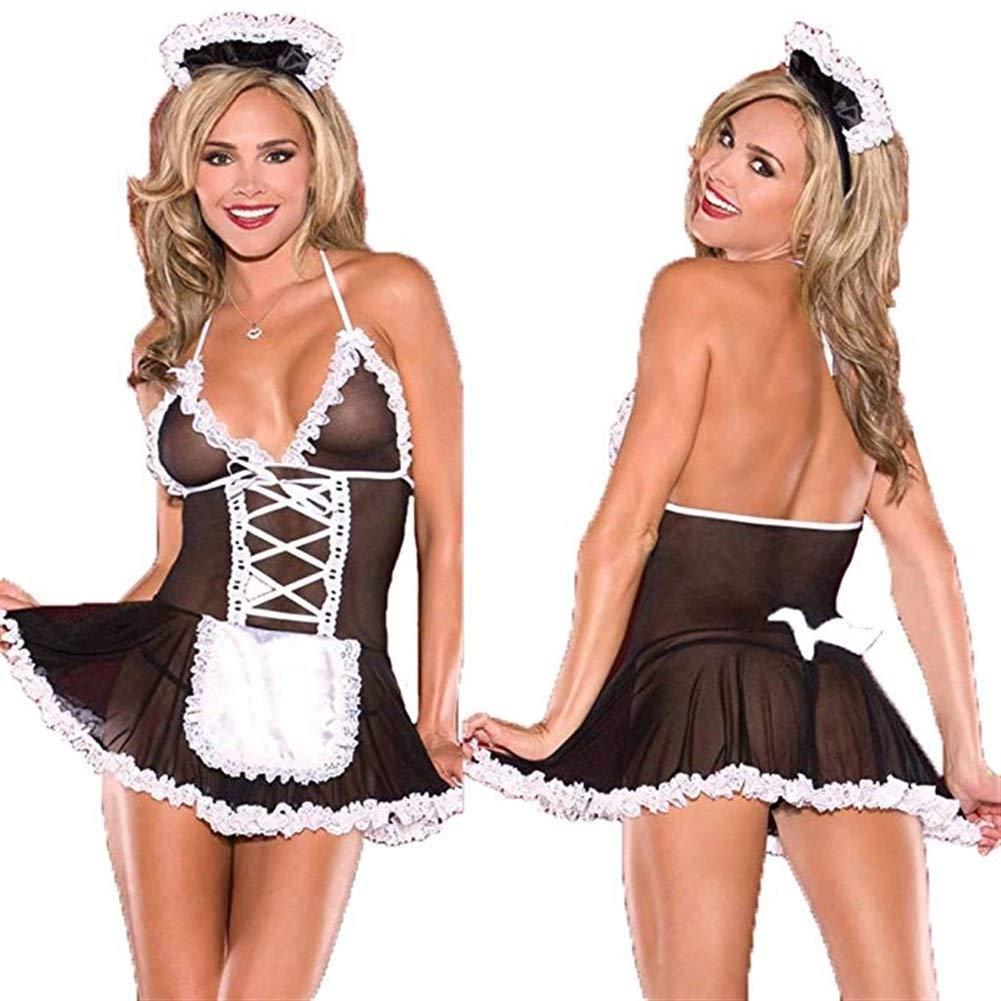 CHERSH Lencería Sexy Vestido Sexy Uniforme Trajes de Mujer Disfraz ...