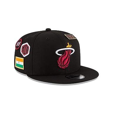 best website 9541e 1a0b3 Amazon.com  New Era Miami Heat 2018 NBA Draft Cap 9FIFTY Snapback  Adjustable Hat- Black  Clothing