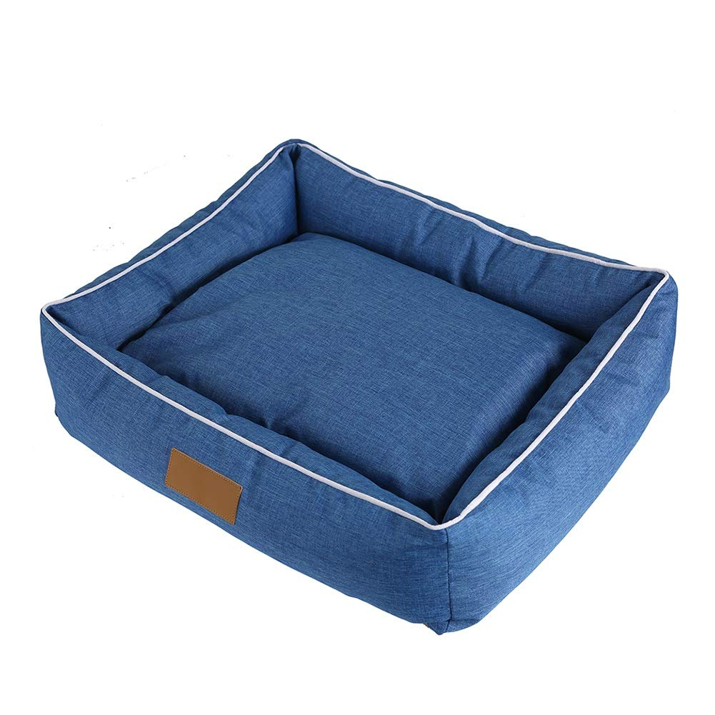 M(554515cm) Pet Bed Waterproof Sofa Breathable Removeable Cover Cushion for Cat Dog Denim bluee (Size   M(55  45  15cm))