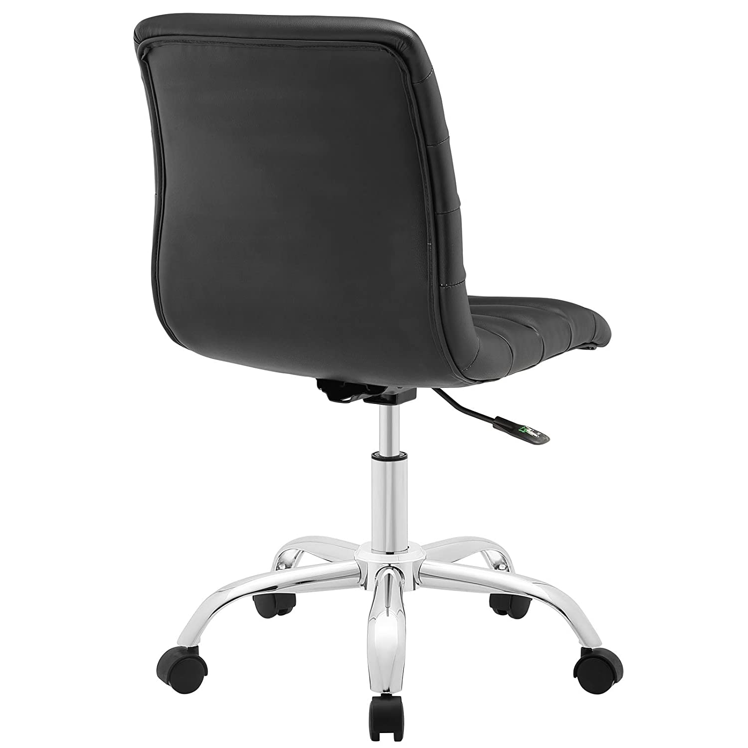 Black and white office chair - Amazon Com Modway Ripple Mid Back Office Chair Black Kitchen Dining
