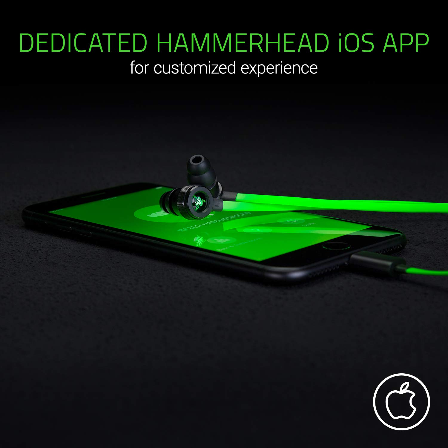 Razer Hammerhead For Ios 10 Mm Dynamic Drivers Computer Geek Circuit Board Green Magnetic Picture Frame Durable Aluminum Chassis And Flat Style Cable In Line Controls Electronics