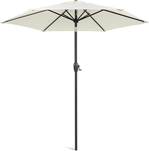 Best Choice Products 7.5ft Heavy-Duty Round Outdoor Market Patio Umbrella w/Steel Pole