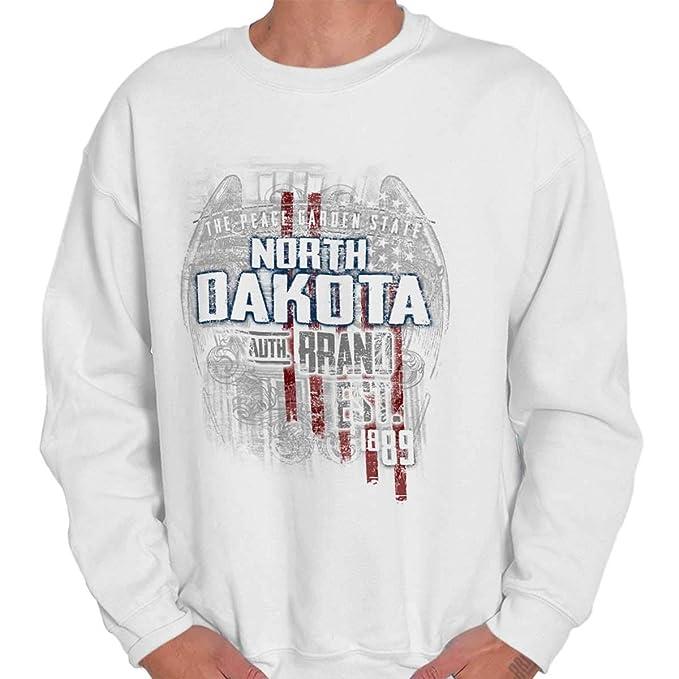 Classic teaze Dakota del Norte Estado Estados Unidos T Shirt Patriotic American Eagle Sudadera de regalo - Blanco - : Amazon.es: Ropa y accesorios