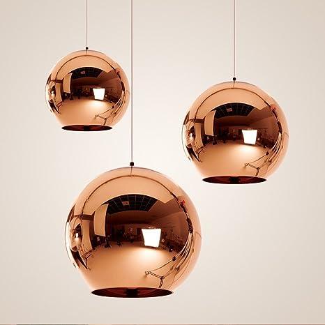 Ideal Lux Nemo XL Bola de cristal colgante lámpara cobre ...