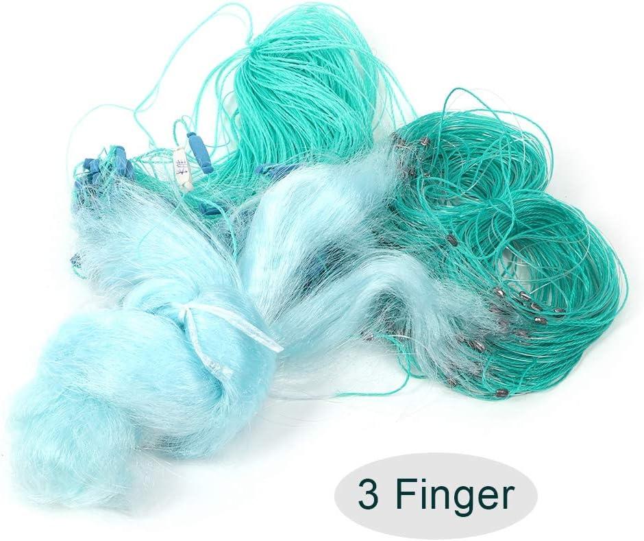 3 Finger TOPINCN 50m Length 1.5m Height 3 Layers Fishing Net Nylon Monofilament American Style Cast Net Outdoor Hand Throw Fishing Mesh Bait Trap Fish