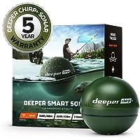 Sonda inteligente Deeper CHIRP + más profunda: portátil, portátil, GPS Fish Finder y buscador de profundidad, en tierra…