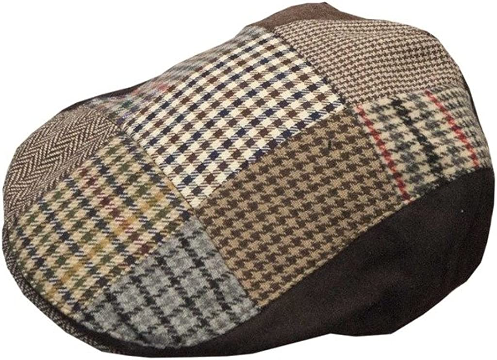 Uni-Sex Wool Patch Country Flat Cap Walker /& Hawkes