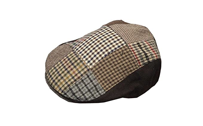 b9cdbbf33fe Walker   Hawkes - Uni-Sex Wool Patch Country Flat Cap  Amazon.co.uk ...