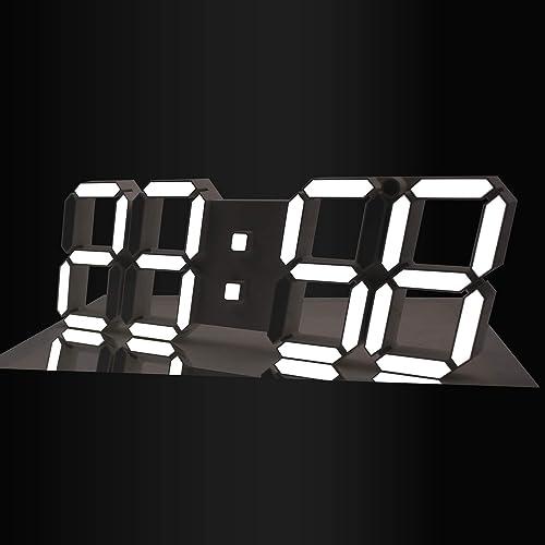 GooDay 3D LED Digital Clock Modern Design Multi-Functional Wall Clock