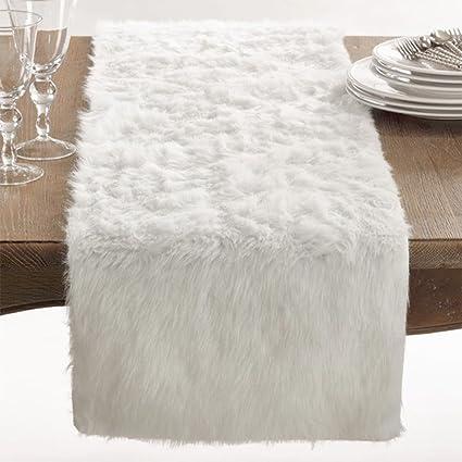 Juneau Faux Fur Table Runner, ...
