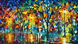 Lonely Walk is a Limited Edition print from the Edition of 400. The artwork is a hand-embellished, signed and numbered Giclee on Unstretched Canvas by Leonid Afremov. Embellishment on each of these pieces will be slightly different, but the image its...
