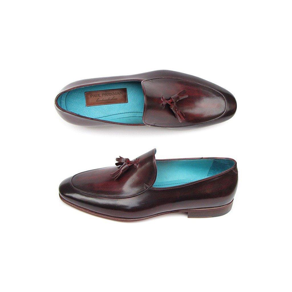 - Paul Parkman Men's Tassel Loafer Black & Purple shoes