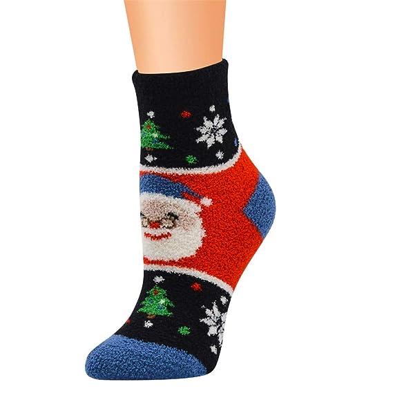 Kinlene Trabajo casual Calcetines de negocios Impresión navideña Coral Fleece Medias medias deportivas: Amazon.es: Ropa y accesorios