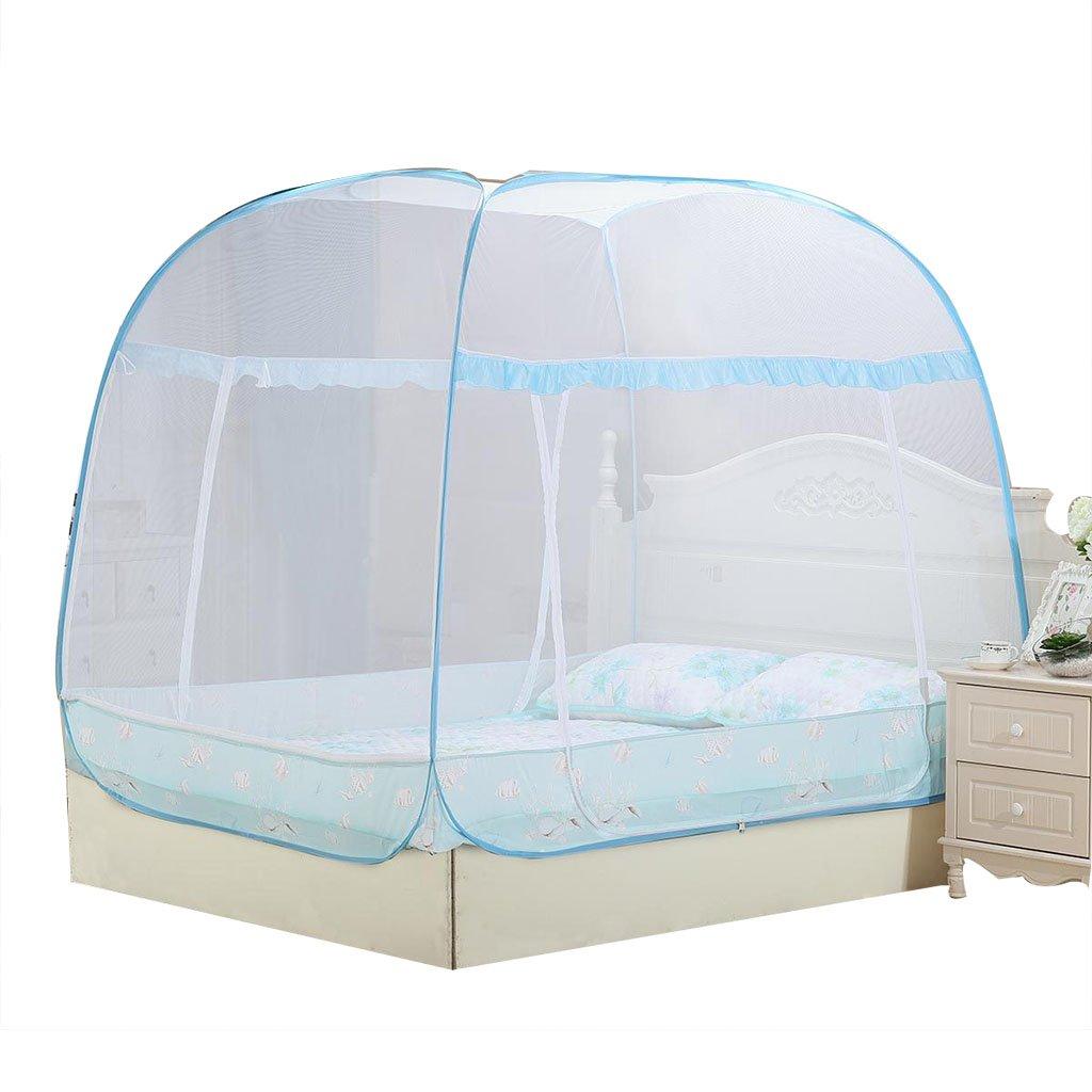 Moskitonetze Yurt Square Top einfach zusammenklappbar Schlafzimmer Zubehör für Home 6ft Bett zu installieren
