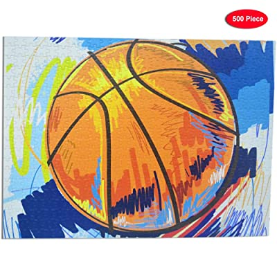 500 Piece Jigsaw Puzzle(Basketball) for Adults and Children,Thick, Sturdy Pieces - Perfect for Family Fun: Toys & Games