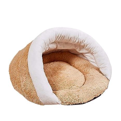 Amazon.com: Cama de dormir para mascotas calientes, cueva ...