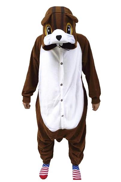 wotogold - Pijama de una Pieza - para Hombre marrón marrón S
