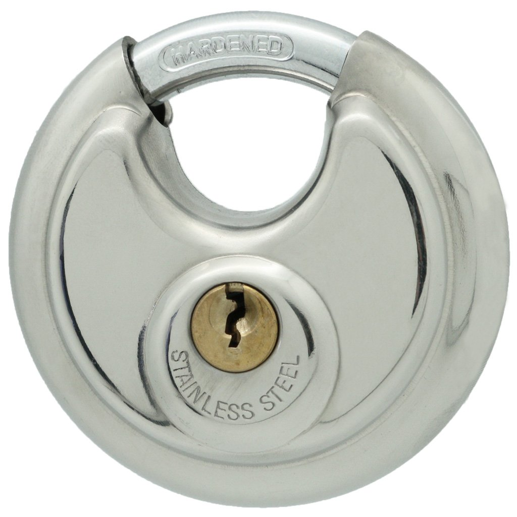 10 Stainless Steel Disc Padlock 2-3/4'', KEYED Differ, 8010x10 by [BLANKNYC] (Image #5)