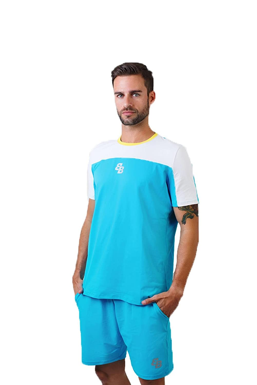 Camiseta Chico Turquesa-Blanco M/C Talla XL: Amazon.es: Ropa ...