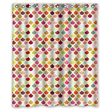 Tic Tac Curtains Creative Bath Colorful Scalloped Shower 60quot