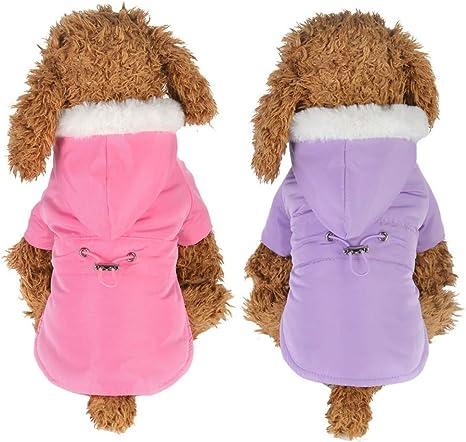 Handfly Cute Rabbit Puppy Coat Chaqueta para Perros peque/ños Ropa de Chihuahua Abrigo para Perros de Invierno Sudaderas para Perros Su/éter para Perros Abrigo para Perros peque/ños y medianos