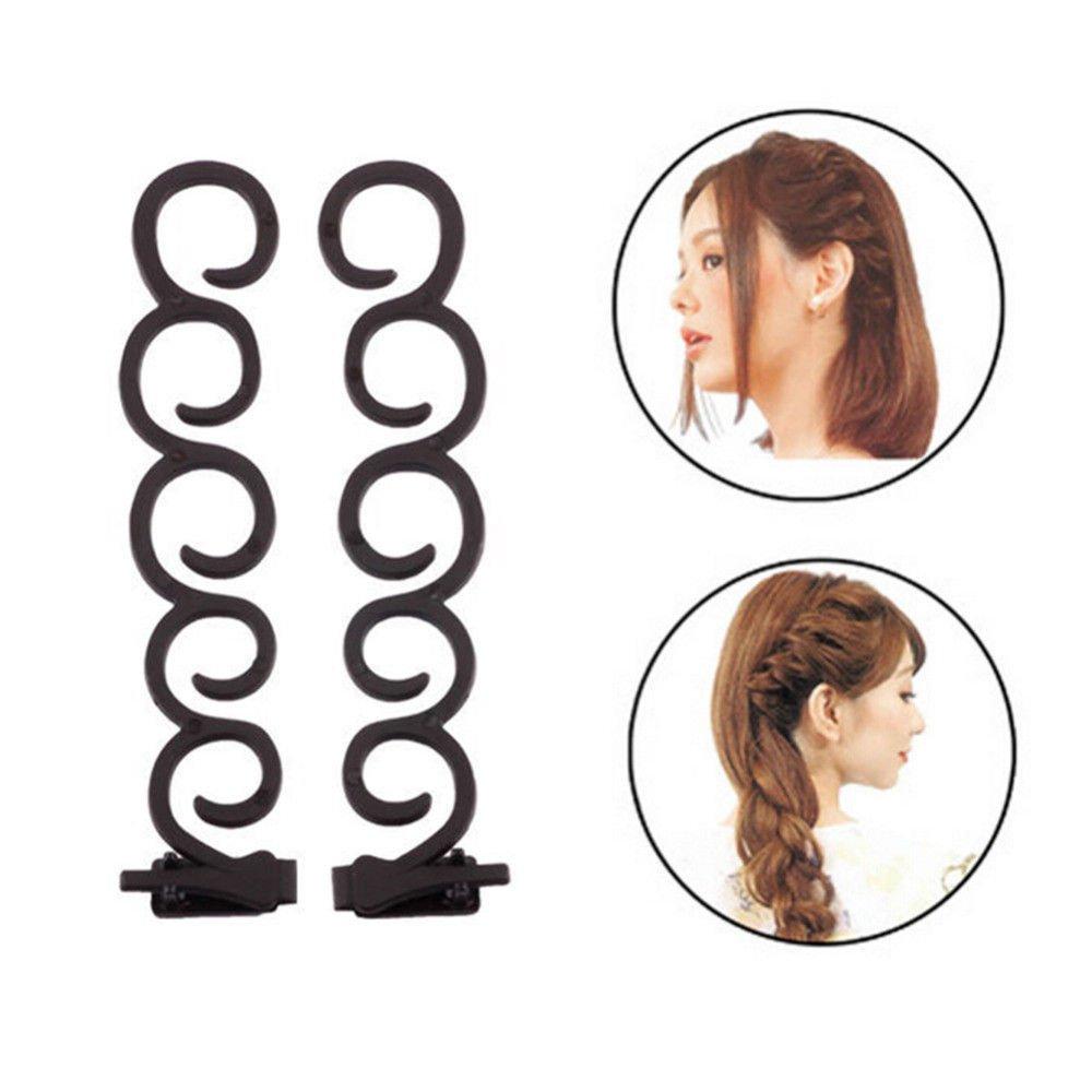 Women Girls Hair Clip Styling Stick Bun Maker Tool Braid Hair Accessory