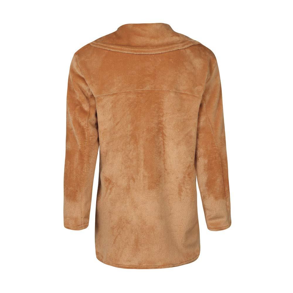 WM /& MW Women Faux Fur Coat Winter Keep Warm Casual Loose Party Open Front Cardigan Blazer Jacket Coat Outerwear