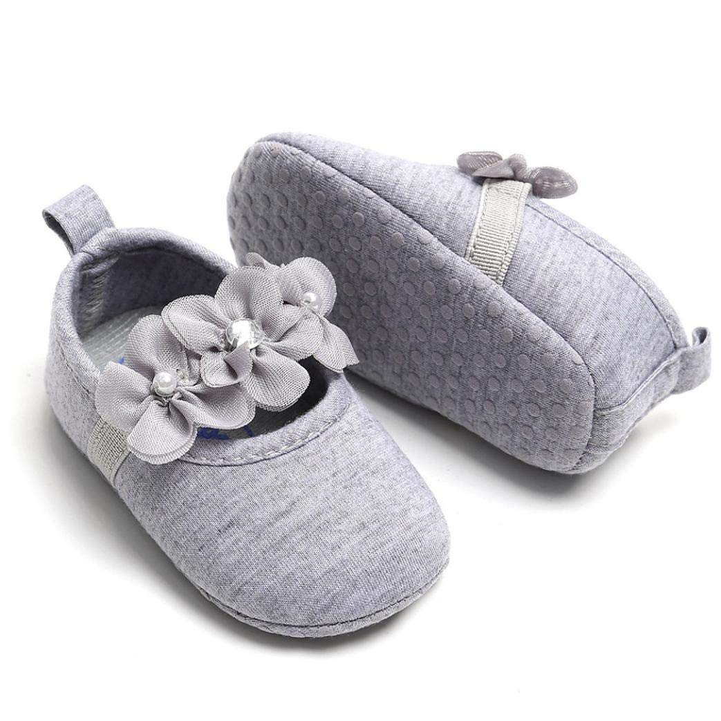 0-18 Months LILICAT Baby Girls Shoes Cotton Toddler Girl Lovely Spring Flower Soft Sole Anti-Slip Sneakers Princess Shoes Newborn First Walk Shoes